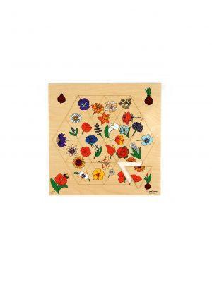 Sestavljanka, lesena – Cvetje